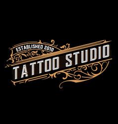 Tattoo logo vintage style vector