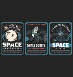 universe galaxy outer space posters planets vector image