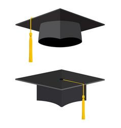 University academic graduation caps vector