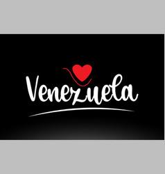 Venezuela country text typography logo icon vector