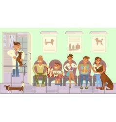 Veterinary clinic interior vector