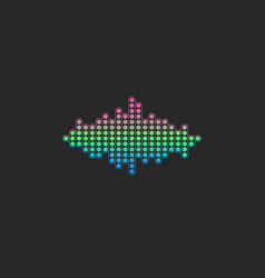 voice sound wave logo gradient color electronic vector image