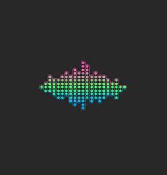 Voice sound wave logo gradient color electronic vector