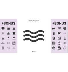wave icon symbol - graphic elements for your vector image