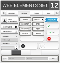 Web elements set 12 vector