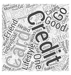 What Is A Good Credit Card Deal Word Cloud Concept vector