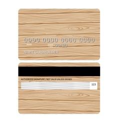 Wood credit card vector