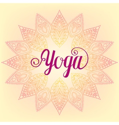 zentangle Yoga design hand drawn template emblem vector image
