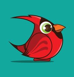 cardinal bird cartoon vector image vector image