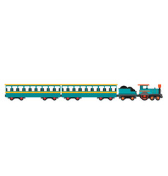 colorful train flat style vector image vector image