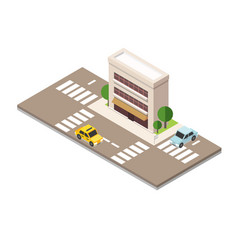 flat 3d isometric urban city infographic concept vector image vector image