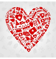 medical symbols heart vector image vector image