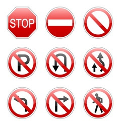 pack traffic sign vector image