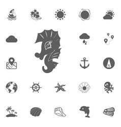 sea horse icon vector image