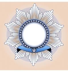 star shaped insignia vector image