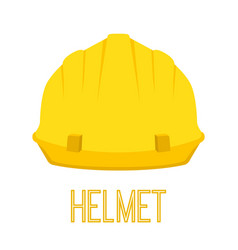 yellow helmet work toolcartoon flat style vector image vector image