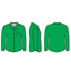 Blank shirt with long sleeves template for men vector image vector image