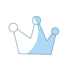 cartoon crown royalty fairy tale image vector image