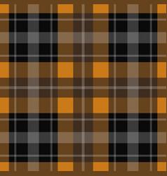 seamless orange black tartan - white stripes vector image