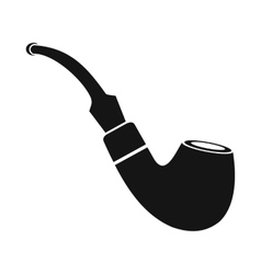 Tobacco pipe icon black simple style vector image vector image