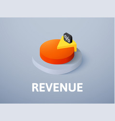 Revenue isometric icon isolated on color vector