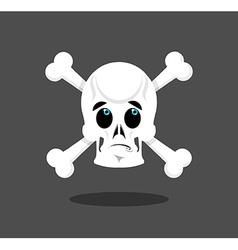Surprised skull emotion Crossbones Discouraged vector image vector image