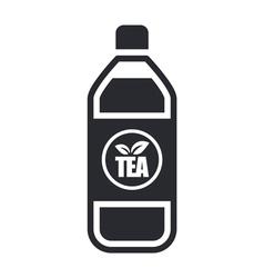 tea bottle icon vector image vector image