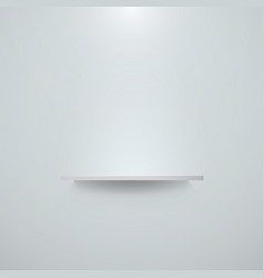 empty white shelf hanging on a wall bright office vector image vector image