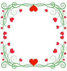 Frame with hearts vector image