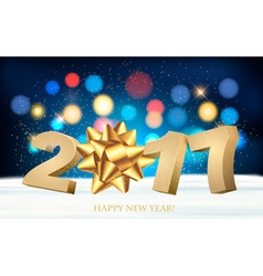 Happy new year 2017 Holiday background with a gift vector image vector image