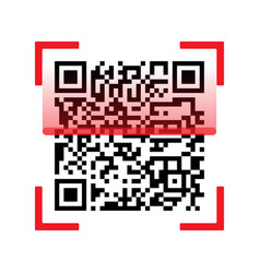 qr code scanning isolated on white background vector image vector image