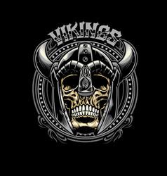 skull of viking warrior vector image vector image