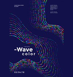 Abstract colorful wave vector