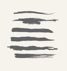 abstract grunge curly handmade grey brushes vector image