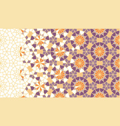 Arabesque art pattern geometric vector