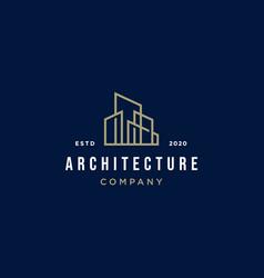 Architecture minimalist logo design vector