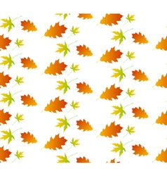 Autumn leaf seamless pattern vector