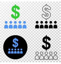 bank clients eps icon with contour version vector image