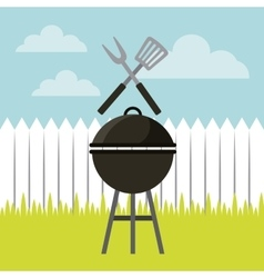 barbecue grill design vector image