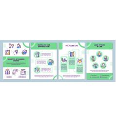 Benefits career change brochure template vector