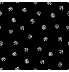Black and white seamless roses pattern vector image