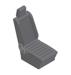 car seat icon isometric style vector image