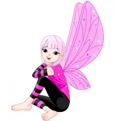 Cartoon emo fairy vector