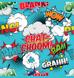 chat-choom seamless comics background vector image
