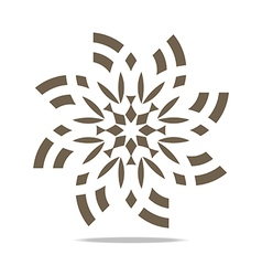 Circle floral symbol vector