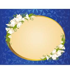 Circular floral border vector