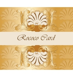 Classic royal gold ornamented card vector