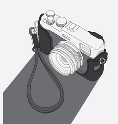 classical cameras are available on the table vector image