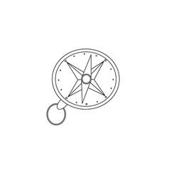 Compas for traveller hiker orientation outline vector