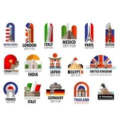 countries world logo design template vector image